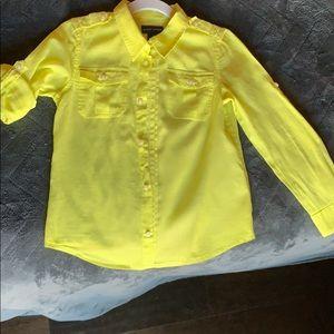 Ralph Lauren sheer long sleeve button up shirt